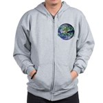 Think Green Double Sided Zip Hoodie