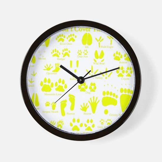 Unique Animal tracks Wall Clock