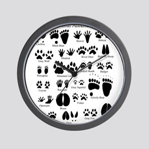 Animal Tracks Guide Wall Clock