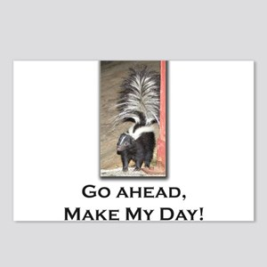 Make My Day Skunk Postcards (Package of 8)