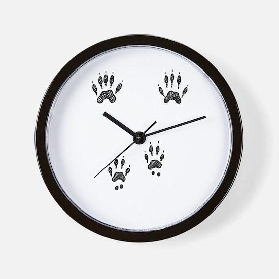 Gray Squirrel Tracks Wall Clock