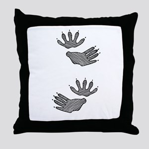Opossum Tracks Throw Pillow