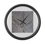 Real Turkey Track Large Wall Clock