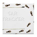 SAR Tracker Shoes Tile Coaster