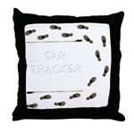 SAR Tracker Shoes Throw Pillow