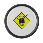 Bison Crossing Large Wall Clock