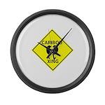 Caribou Crossing Large Wall Clock