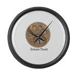 Real Bobcat Pawprint Large Wall Clock