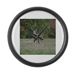 Four Point Buck Large Wall Clock