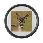 Young Doe Large Wall Clock