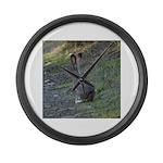 Black Tailed Jackrabbit Large Wall Clock