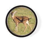 Forked Horn Buck Wall Clock