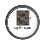Bobcat Track Photo Wall Clock