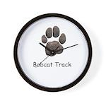 Real Bobcat Track Wall Clock