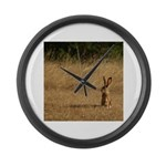 Sitting Jackrabbit Large Wall Clock