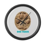 Dog Track Large Wall Clock