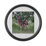 Doe in the Shade Large Wall Clock