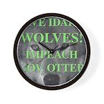 Save Idaho Wolves Wall Clock