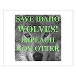 Save Idaho Wolves Small Poster