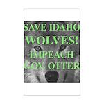 Save Idaho Wolves Mini Poster Print