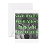 Save Idaho Wolves Greeting Cards (Pk of 20)