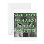 Save Idaho Wolves Greeting Cards (Pk of 10)