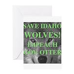 Save Idaho Wolves Greeting Card