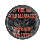 Stop the wolf massacre Wall Clock