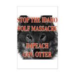 Stop the wolf massacre Mini Poster Print