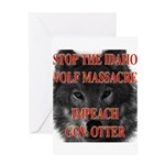 Stop the wolf massacre Greeting Card