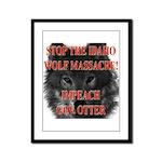 Stop the wolf massacre Framed Panel Print
