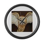 Barn Owl Large Wall Clock