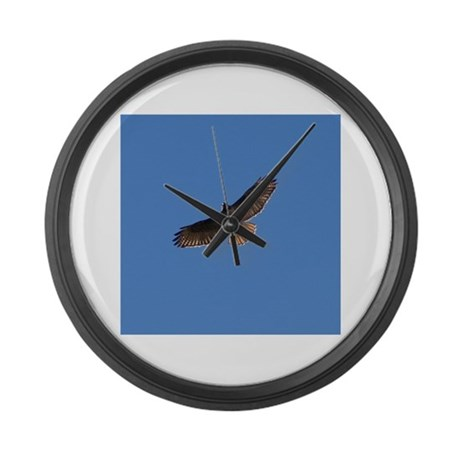 Red-Tailed Hawk Large Wall Clock