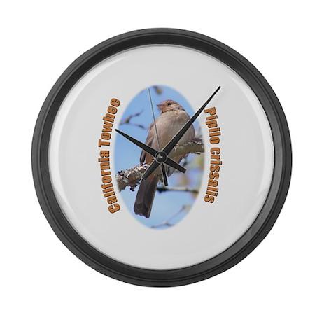 California Towhee Large Wall Clock