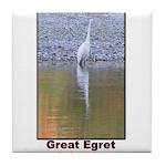 Great Egret Tile Coaster