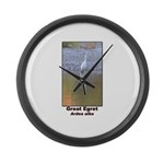 Great Egret Large Wall Clock