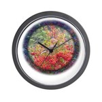 Robins with Berries Wall Clock