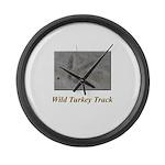 Wild Turkey Track Large Wall Clock