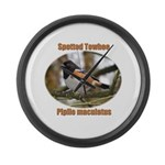 Spotted Towhee Large Wall Clock