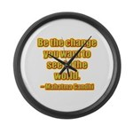 Gandhi Quote Large Wall Clock