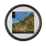 Eel River Cliff Large Wall Clock