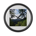 Eel River from the cliff Large Wall Clock