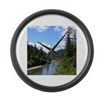 Scenic Eel River Large Wall Clock