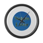 Nature Lover Sky Background Large Wall Clock