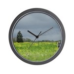 Mailbox and Field Scenic Wall Clock