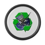 Earth Day Recycle Large Wall Clock