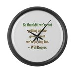 Will Rogers Government Quote Large Wall Clock