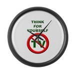 Think For Yourself Large Wall Clock