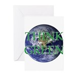 Think Green Double Sided Greeting Cards (Pk of 20)