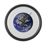 Earth Large Wall Clock